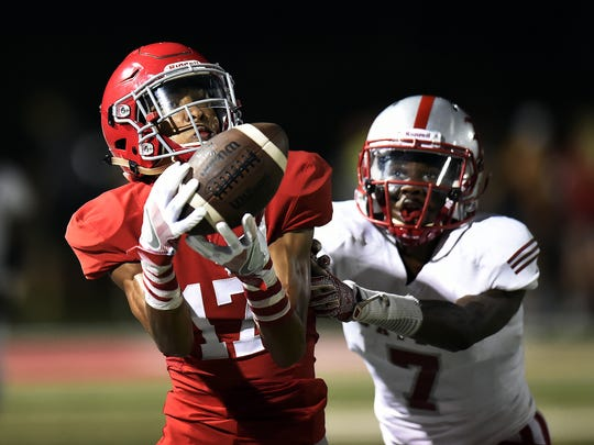 Brentwood Academy wide receiver Michael Archie (17)