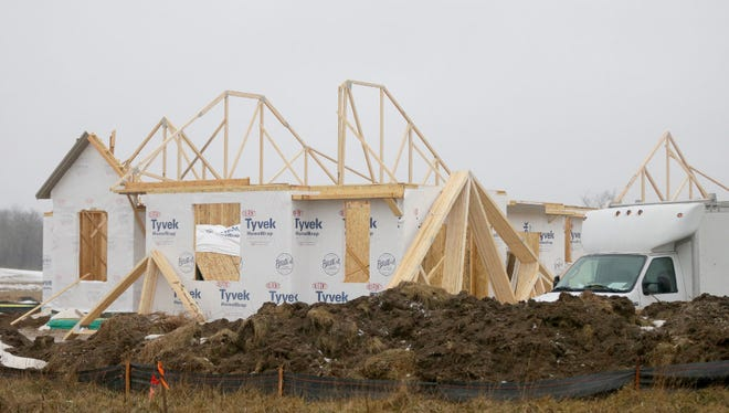 Belman Homes is constructing houses in the Rolling Oaks II neighborhood in Waukesha.  Permits to build new homes in the Milwaukee metro area were up 14% in 2016