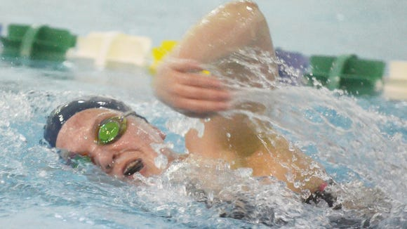Rachel Woods-Bannan of NV/Demarest earned high seeds in two freestyle events at the state meet.