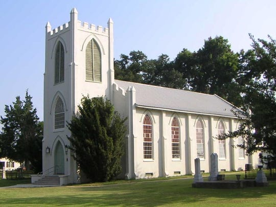 Pictured is Trinity Episcopal Church in Cheneyville after its renovations in the early 2000s.