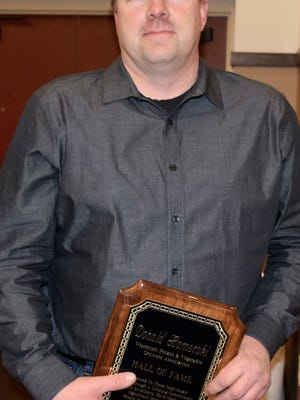 Jon Hamerski accepted the plaque on behalf of his late father, who inducted posthumously this year into the WPVGA Hall of Fame.