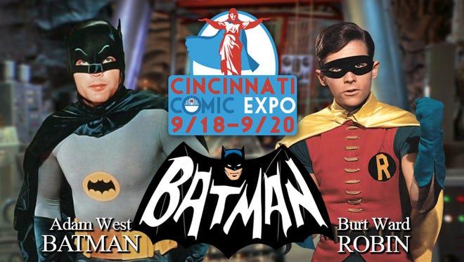 Adam West and Burt Ward, TV's original Batman and Robin, are coming to the Cincinnati Comic Expo.