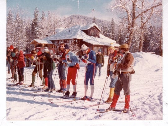 The Over Seeley's Creeks and Ridges cross-country ski race got its start in 1981. This was taken at the 1983 race.