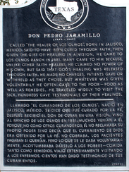2. Historical marker at Los Olmos recognizes Don Pedro