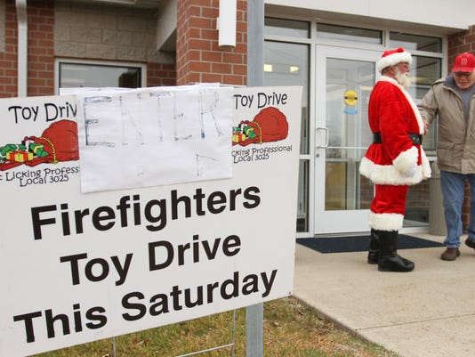 West Licking firefighters toy drive