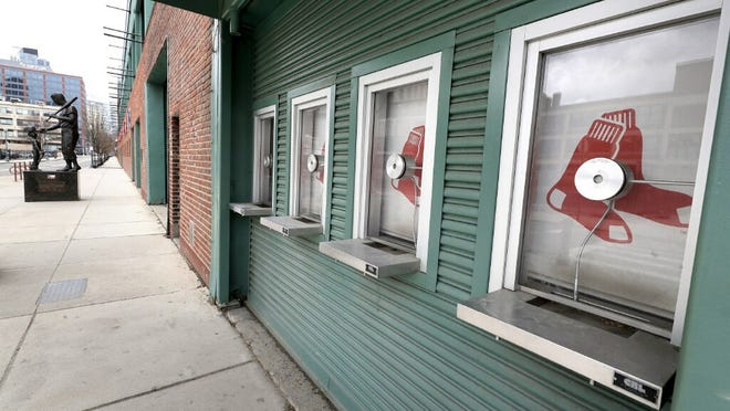 Ticket windows at Fenway Park remain quiet, and are expected to only be in use for 30 Red Sox home games in this shortened regular season.