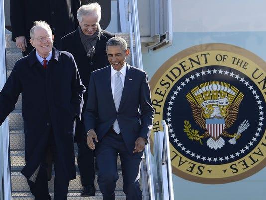Barack Obama, Lamar Alexander, Bob Corker, John Duncan Jr.