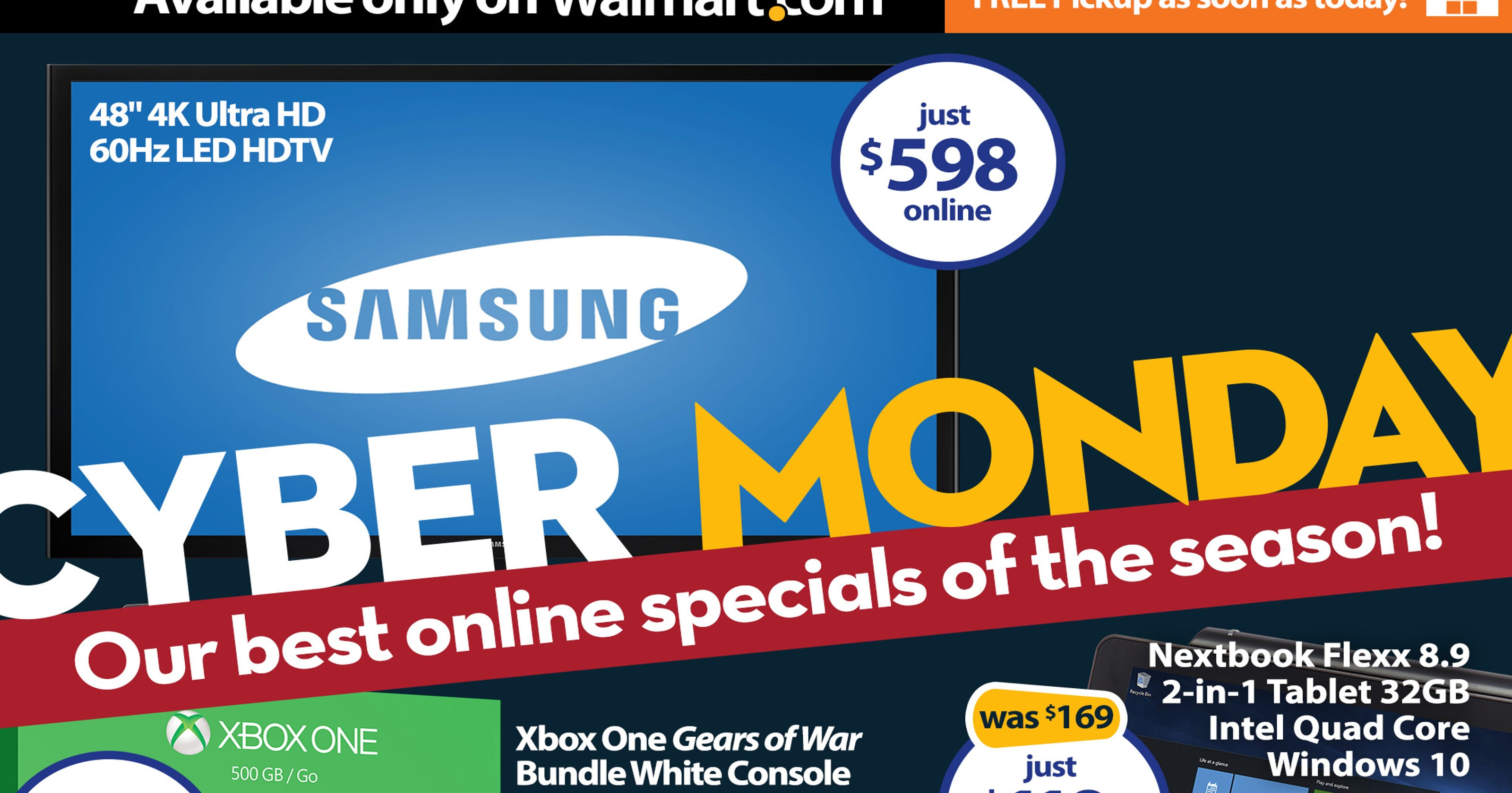 walmart cyber monday deals start sunday night. Black Bedroom Furniture Sets. Home Design Ideas