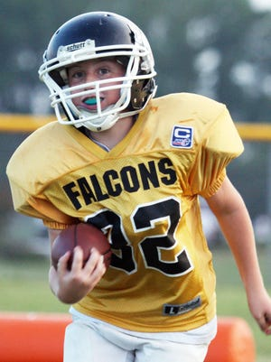 Football is one of the few sports offered through the Fruitland Falcons.