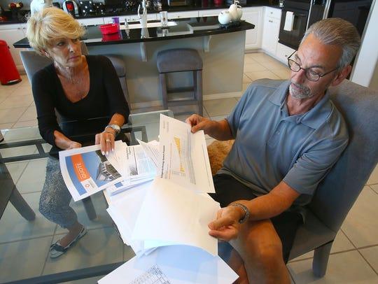 La Quinta residents Bob and Arlene Livon talk about