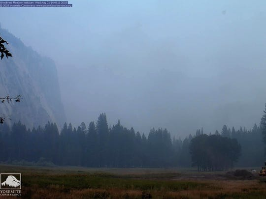 In this Wednesday image from a Yosemite Conservancy