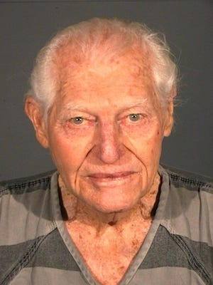 This photo provided by the Carson City Sheriff 's Department shows William Dresser. Dresser was arrested  Sunday Jan. 19, 2014, after firing one shot with small-caliber semi-automatic handgun that struck his wife in the chest at Carson Tahoe Regional Medical Center in Carson City, Nev.