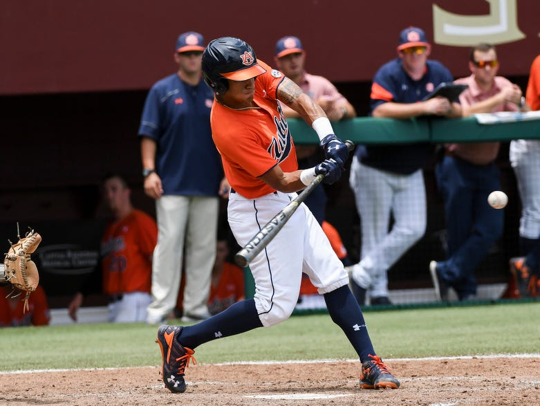 Will Holland had a 3-run home run and a double during the NCAA Baseball Regional victory over Central Florida on Friday, June 2, 2017, in Tallahassee, Fla.