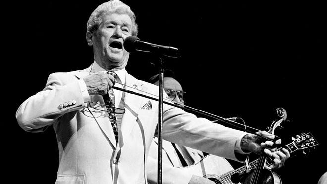 Roy Acuff performs during the televised Grand Ole Opry 62nd Birthday Celebration Show at the Opry House on Oct. 10, 1987.