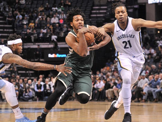 Sterling Brown showed flashes in his rookie year last season.