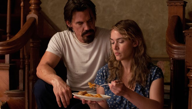 Frank (Josh Brolin) and Adele (Kate Winslet) enjoy a finely crafted peach pie in 'Labor Day.'