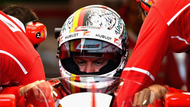"""""""I wasn't a big fan of the shield. For sure you need to get used to the halo, but at least it didn't impact on the vision,"""" Sebastian Vettel, above, said."""