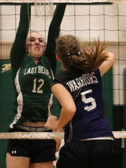 Gateway Christian's Aubrey Freese hits a ball over