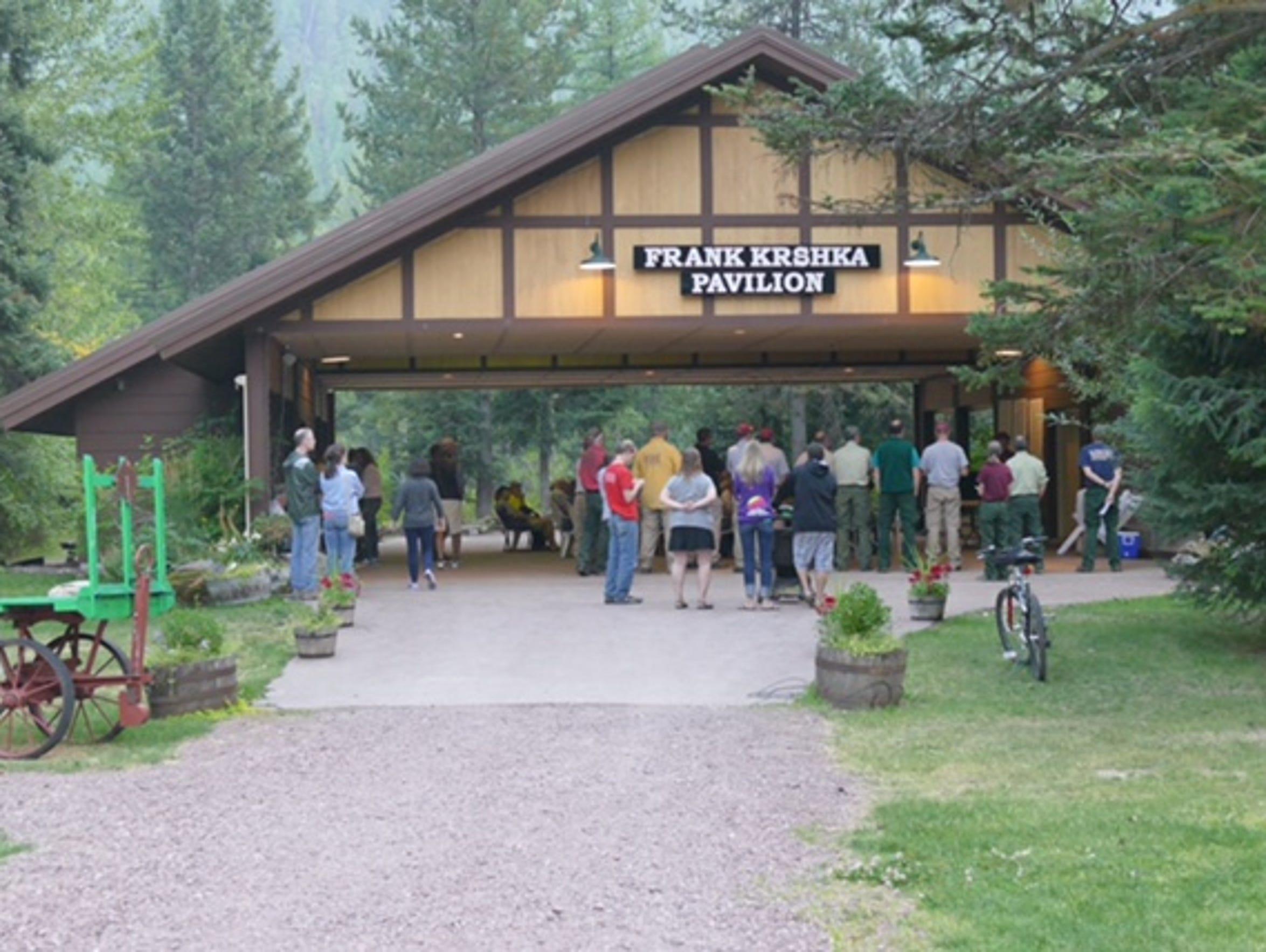 A community meeting at the Izaak Walton Inn.