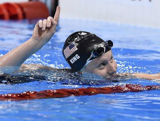 King, American swimmer