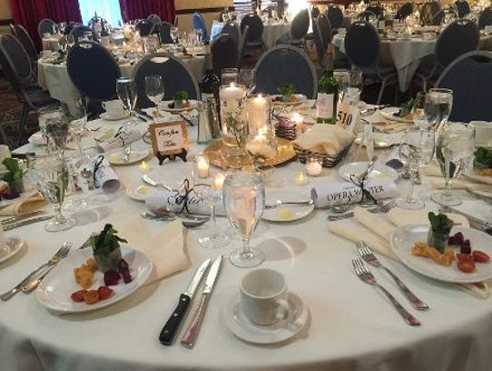 Enjoy a three-course meal, auctions and entertainment
