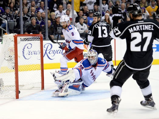 The 2014 Stanley Cup playoffs had 26 overtimes, culminated by Alec Martinez's rebound goal at 14:43 of the second overtime in Game 5 against the New York Rangers on June 13. It was his second overtime clincher of the playoffs and gave the Kings a 3-2 win and their second Cup in three years. The rest of the overtimes:
