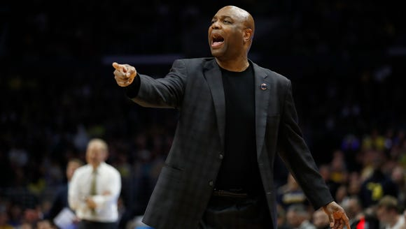 Florida State coach Leonard Hamilton yells during the