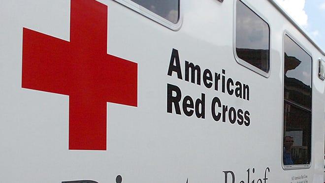 An American Red Cross vehicle