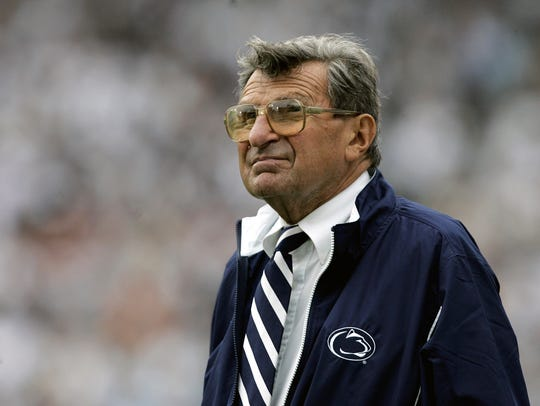 "Joe Paterno, the real-life subject of HBO's ""Paterno,"""