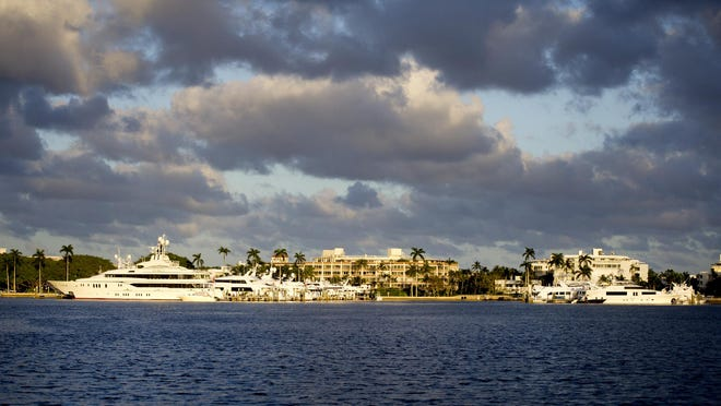 The Australian Dock, left, and Peruvian Dock are part of the Town Docks which is the only public marina in Palm Beach.