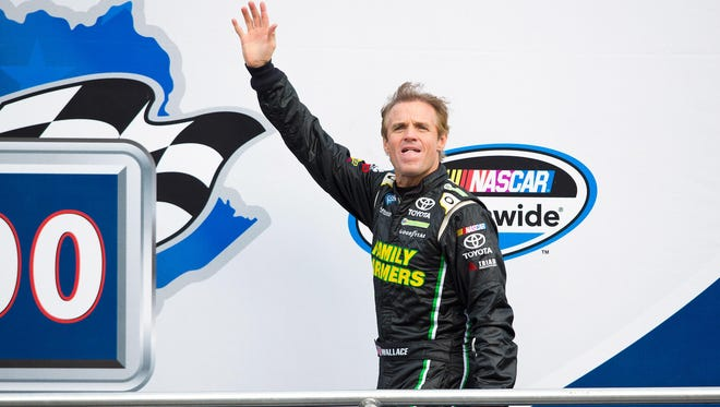 NASCAR driver Kenny Wallace will take his last spin before retirement during Saturday night's U.S. Cellular 250 at Iowa Speedway.