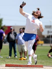 Central High School senior Cameron Cross took second place in the shot put Friday at the Region I-6A Track and Field Meet to advance to next month's state meet.