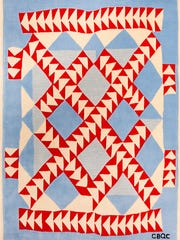 """""""Wild Goose Chase,"""" Gee's Bend Quilt Rugs by Annie"""