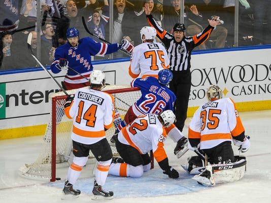 Rangers Flyers 2014 Game 5 disallowed goal