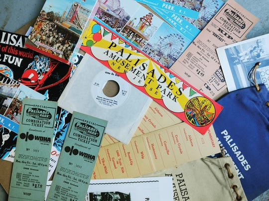 Various Palisades Amusement Park memorabilia