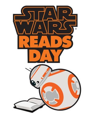 """BB-8, a new character in """"Star Wars: The Force Awakens,"""" is a poster droid for """"Star Wars"""" Reads Day."""