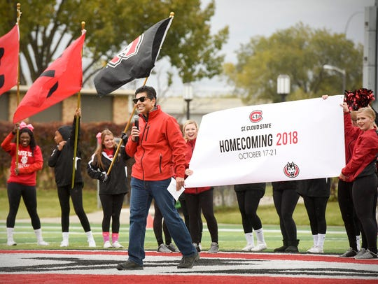 St. Cloud State University Interim President Ashish Vaidya announced in 2017 that there will be a Homecoming weekend celebration to kick off the school's 150th anniversary in 2018.