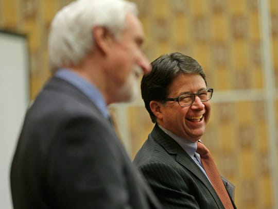 Steven Avery's former lawyers Dean Strang, right, and