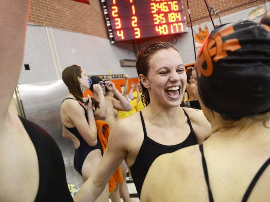 York Suburban's Erin Merkle holds the fastest time in the so far this season.