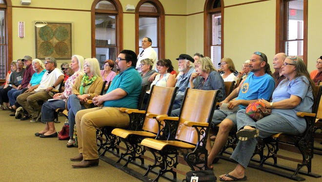 Thursday's Luna County Board of Commissioners meeting was well attended during a public meeting to discuss a proposed animal ordinance.