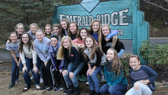 The North Buncombe Middle girls basketball team.