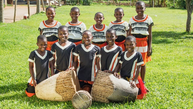 The Ugandan Kids Choir sings traditional African songs and dances, performing all around the U.S. The group planned to perform in Cold Spring and Sauk Rapids on July 9, 2017.