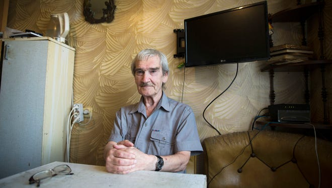 Stanislav Petrov at his home in Fryazino, Russia, on Aug. 27, 2015.