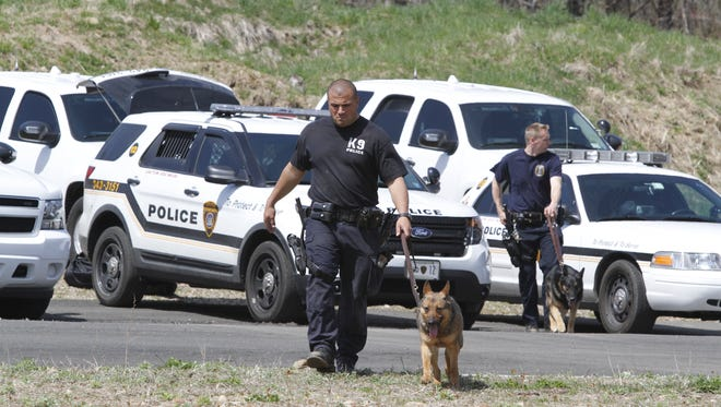 Police K-9 units from 20 regional agencies  participated in live tactical drills with their K-9s at the Firearms Training Facilities in New City on April 24, 2013. Fourteen K-9 teams are to graduate from the State Police K-9 training course on Nov. 20, 2014.