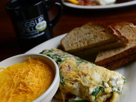 Eggs Up Grill features a menu of fresh breakfast and lunch favorites.