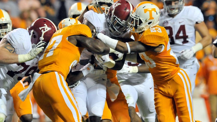 Oct 25, 2014; Knoxville, TN, USA; Alabama Crimson Tide