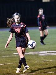 Abigail Osborn, a midfielder and defender on Northeastern
