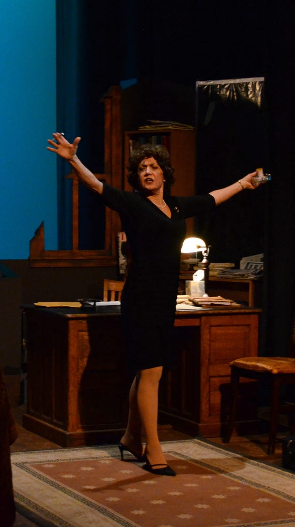 "Barbara Deering won rave reviews — and a Best Lead Actress nomination — as Violet Weston in BPA's ""August: Osage County."""