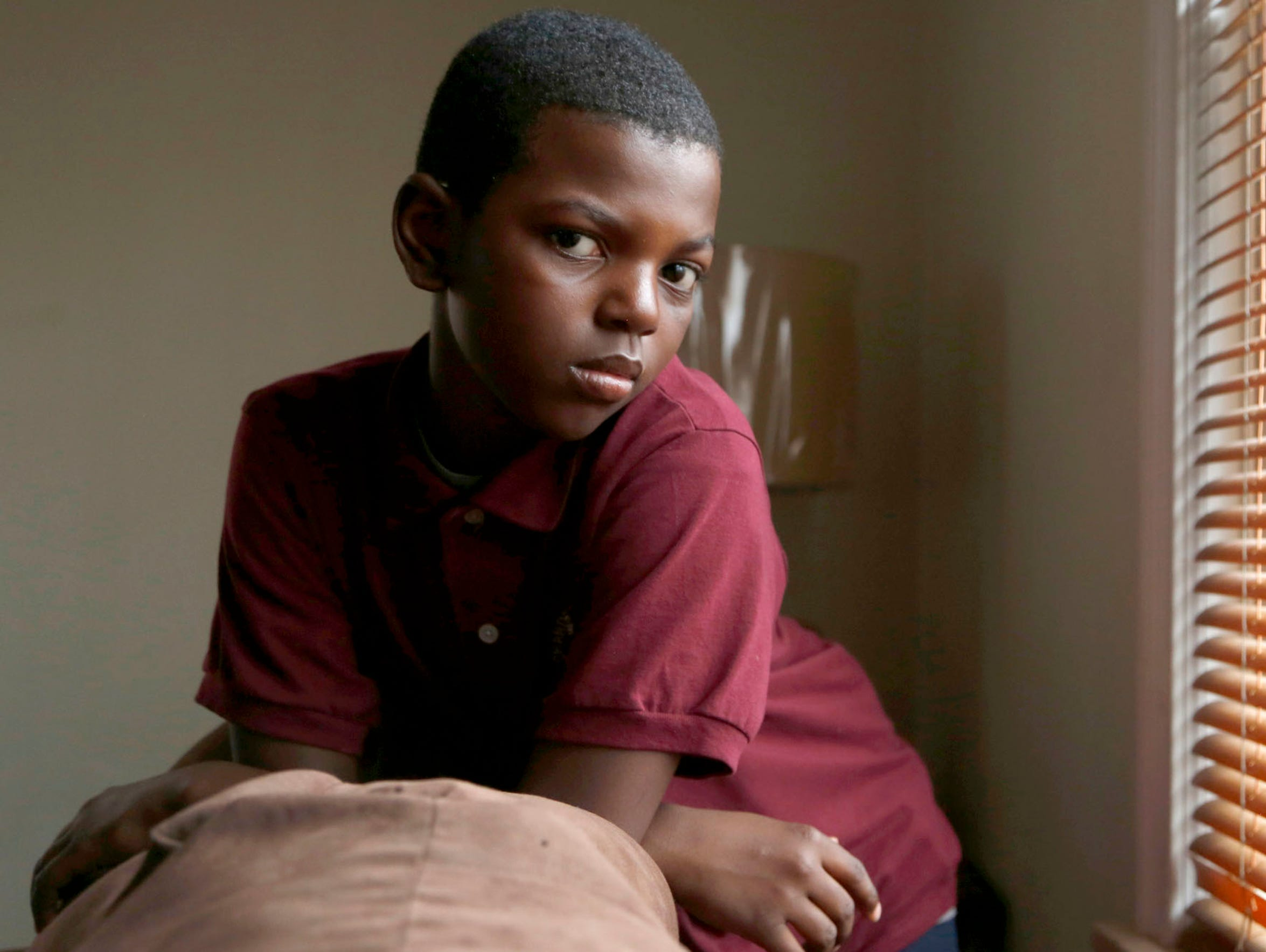 Christian Hill, 11 years old in Detroit on Tuesday,