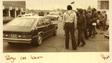 Eugene Tafoya, inside the Chevrolet, leaves the Larimer